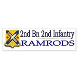 2nd Bn 2nd Infantry Bumper Sticker
