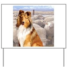 Shelty with Sheep Yard Sign
