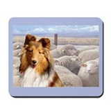 Shelty with Sheep Mousepad
