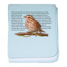 Savannah Sparrow baby blanket