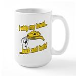 I Whip My Towel Back and Forth Large Mug