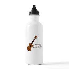 Ukulele Design Water Bottle