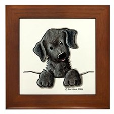 PoCKeT Black Lab Puppy Framed Tile