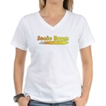 Sonic Boom Women's V-Neck T-Shirt