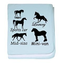Horse Cars baby blanket