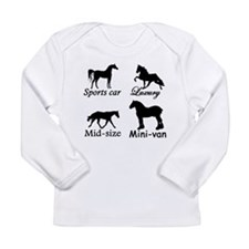 Horse Cars Long Sleeve Infant T-Shirt
