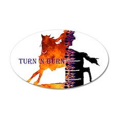 Turn 'n Burn 38.5 x 24.5 Oval Wall Peel