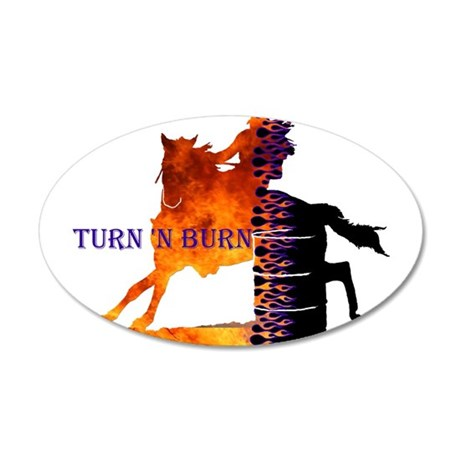 Turn 'n Burn 22x14 Oval Wall Peel