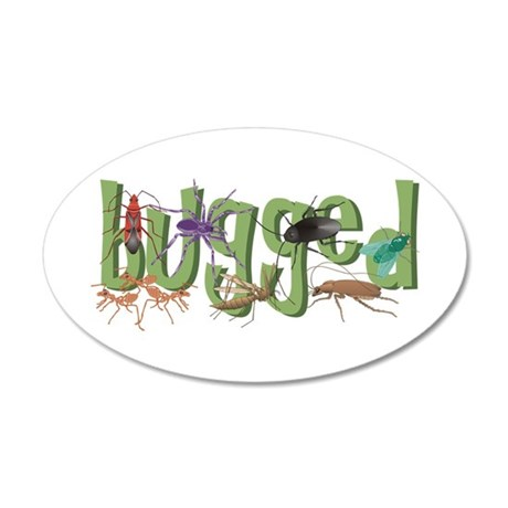 Bugged 35x21 Oval Wall Decal