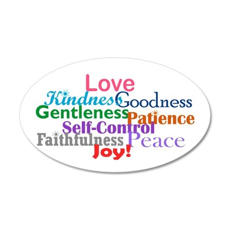 Fruit of the Spirit 20x12 Oval Wall Decal
