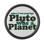 Pluto Was A Planet Large Wall Clock