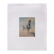 Unique Harness racing Throw Blanket