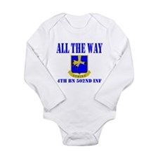 All The Way 4th Bn 502nd Inf Long Sleeve Infant Bo