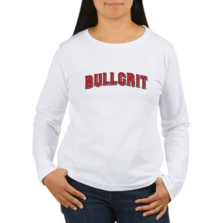 BULLGRIT Women's Long Sleeve White T-Shirt