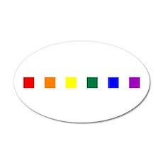 Rainbow Pride Squares 38.5 x 24.5 Oval Wall Peel