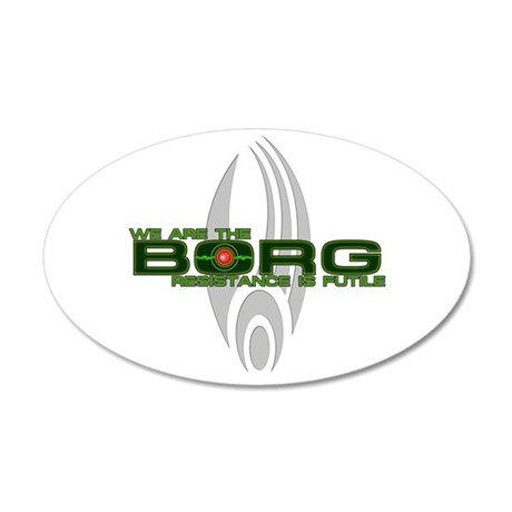 Borg - Resistance is Futile 38.5 x 24.5 Oval Wall