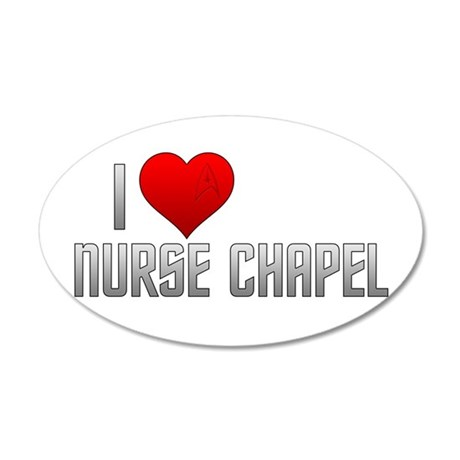 I Heart Nurse Chapel 38.5 x 24.5 Oval Wall Peel