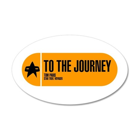 To the Journey 38.5 x 24.5 Oval Wall Peel
