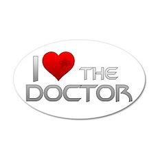 I Heart The Doctor 22x14 Oval Wall Peel