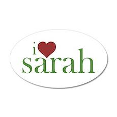 I Heart Sarah 38.5 x 24.5 Oval Wall Peel