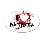 I Heart Batista 22x14 Oval Wall Peel
