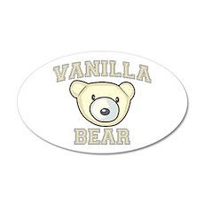Vanilla Bear 22x14 Oval Wall Peel