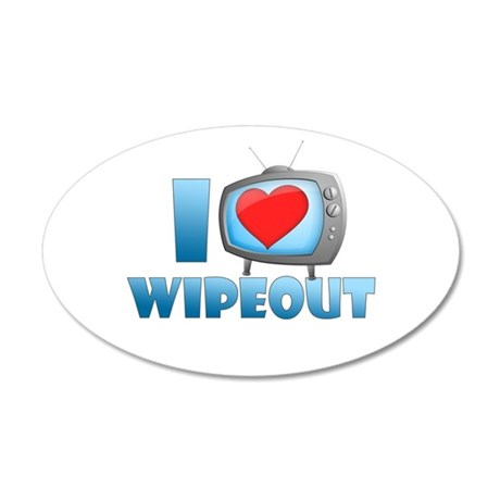I Heart Wipeout 22x14 Oval Wall Peel