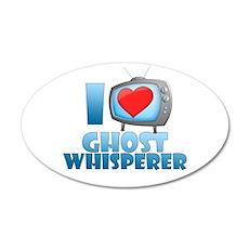 I Heart Ghost Whisperer 22x14 Oval Wall Peel