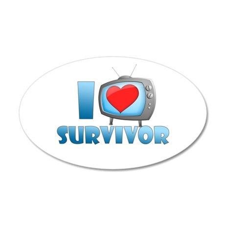 I Heart Survivor 22x14 Oval Wall Peel