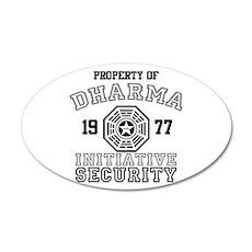 Dharma Initiative - Security 38.5 x 24.5 Oval Wall
