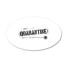 Quarantine - Dharma Initiativ 38.5 x 24.5 Oval Wal