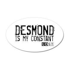 Desmond Is My Constant 22x14 Oval Wall Peel