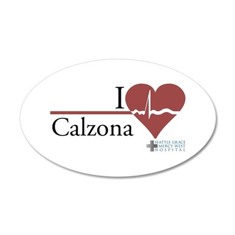 I Heart Calzona - Grey's Anatomy 22x14 Oval W