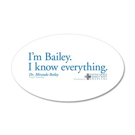 I'm Bailey. I Know Everything 38.5 x 24.5 Oval Wal