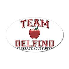 Team Delfino 22x14 Oval Wall Peel
