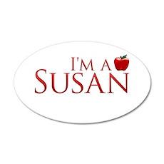 I'm a Susan 22x14 Oval Wall Peel