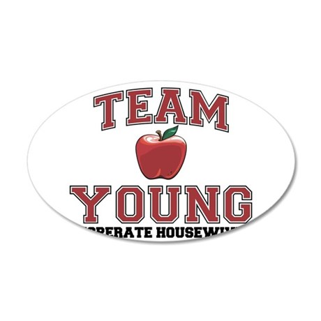 Team Young 22x14 Oval Wall Peel