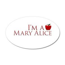 I'm a Mary Alice 38.5 x 24.5 Oval Wall Peel