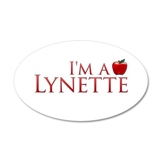 I'm a Lynette 38.5 x 24.5 Oval Wall Peel