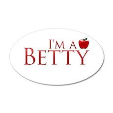 I'm a Betty 22x14 Oval Wall Peel
