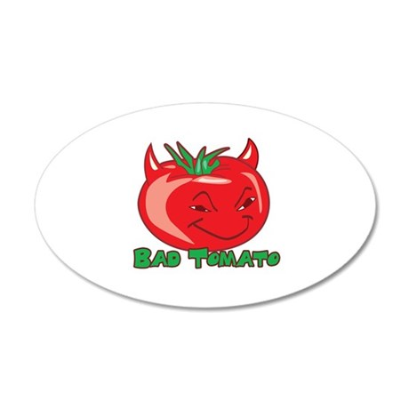 Bad Tomato 38.5 x 24.5 Oval Wall Peel