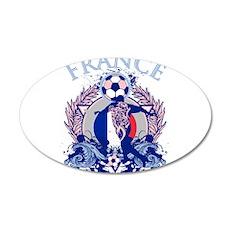 France Soccer 22x14 Oval Wall Peel