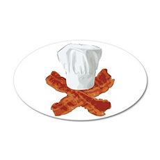 Bacon Chef 38.5 x 24.5 Oval Wall Peel