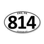 Erie, PA 814 22x14 Oval Wall Peel