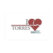 I Heart Torres 38.5 x 24.5 Wall Peel