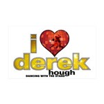 I Heart Derek Hough 38.5 x 24.5 Wall Peel