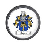 Rovere Coat of Arms Wall Clock