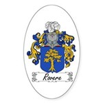 Rovere Coat of Arms Oval Sticker