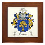 Rovere Coat of Arms Framed Tile