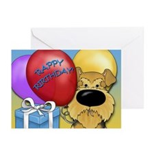 Airedale Birthday Greeting Cards (Pk of 20)